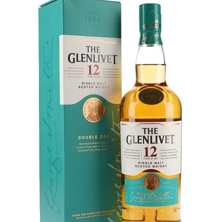 GLENLIVET 12 ANI DOUBLE OAK SINGLE MALT 0.7L 70cl / 40% WHISKY imagine