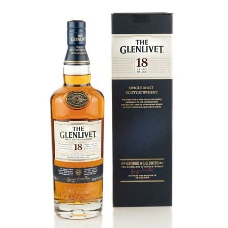 GLENLIVET 18 ANI SINGLE MALT 0.7L 70cl / 43% WHISKY imagine