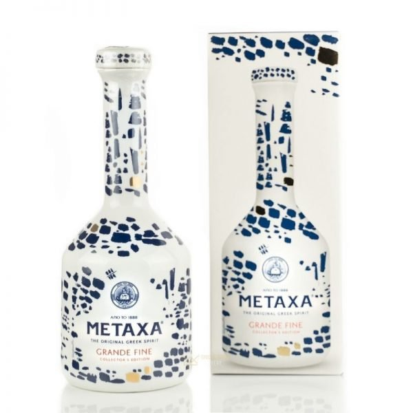 METAXA GRANDE FINE CERAMIC 0.7L 70cl / 40% BRANDY imagine